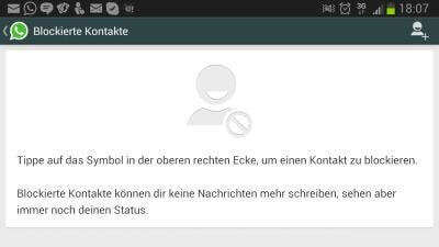 WhatsApp-Kontakte blocken Android