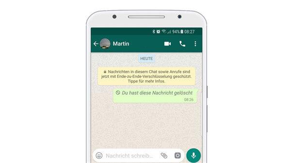 WhatsApp-Nachrichten zurückziehen