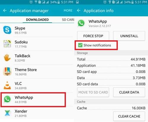 WhatsApp-Notifikation anzeigen