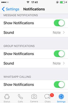WhatsApp-Notifikation aktivieren iOS