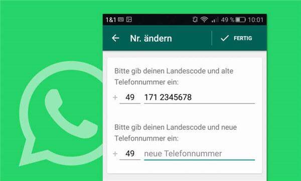 WhatsApp-Nummer ändern