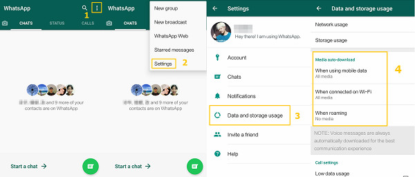 WhatsApp-Videos-Downloaden erlauben