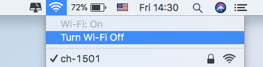 Wifi einschalten
