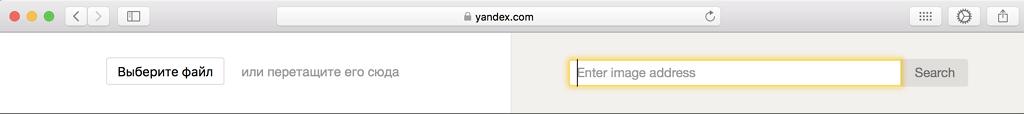 Ähnliche Fotos suchen mit Yandex