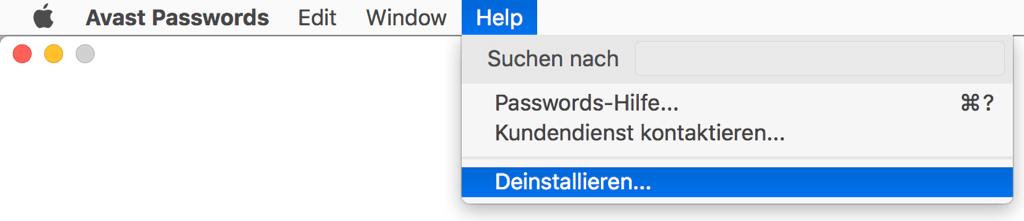 Avast Password deinstallieren auf Mac