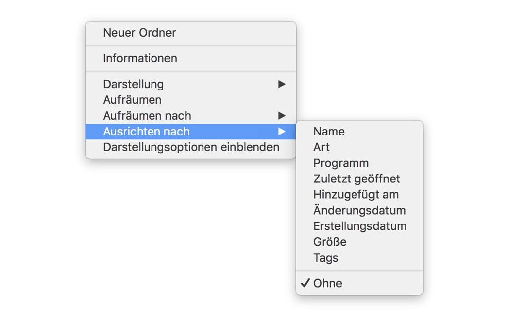 Mac-Datei verwalten