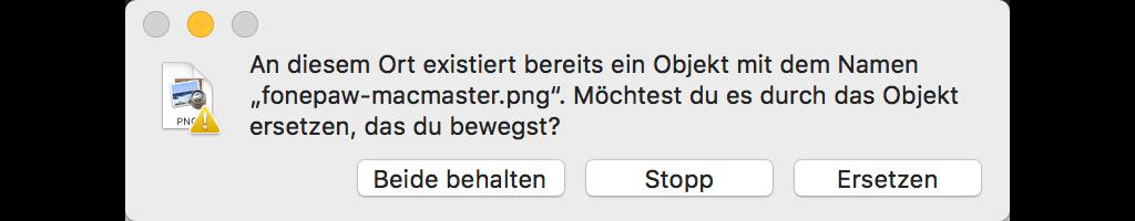 Mac Dateien verschieben Beide behalten