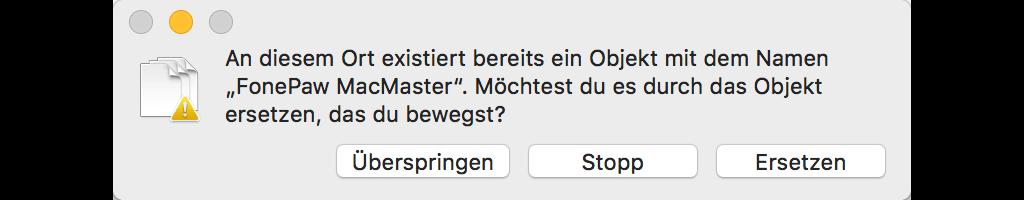 Mac Dateien verschieben Überspringen