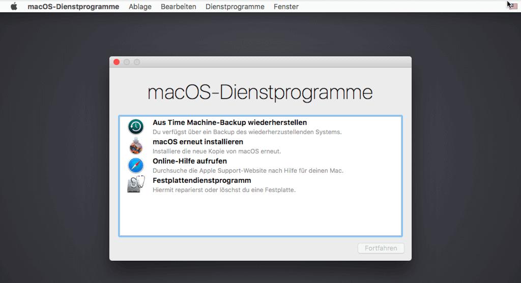 Dienstprogramme auf macOS