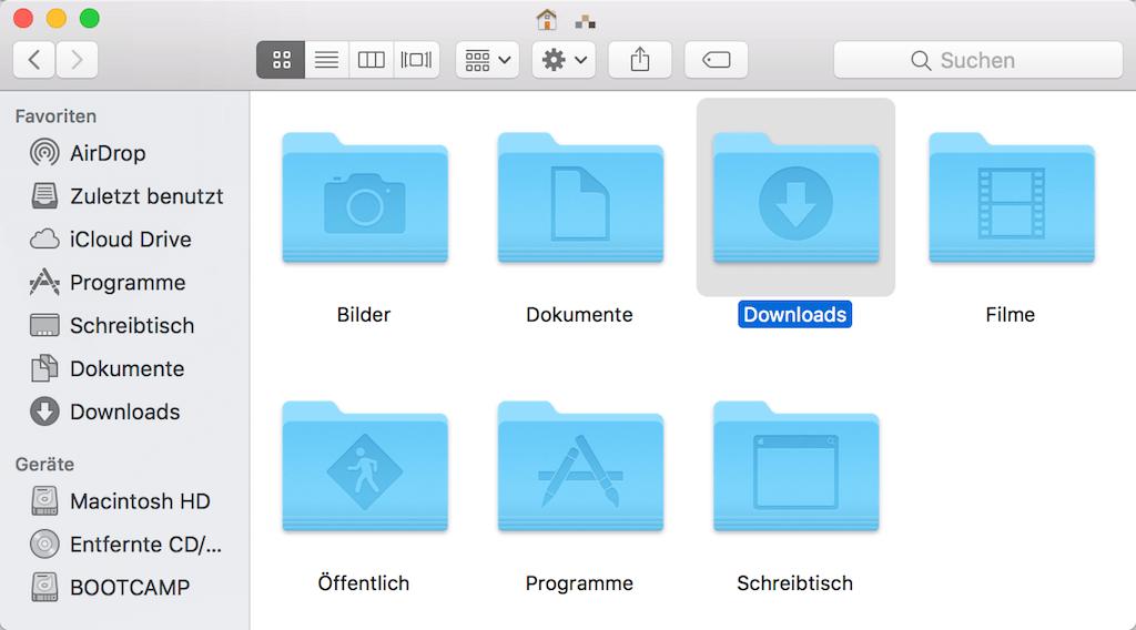 Mac Downloads Ordner