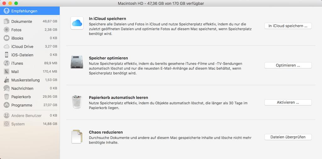 Mac Festplatte Verwaltungstools