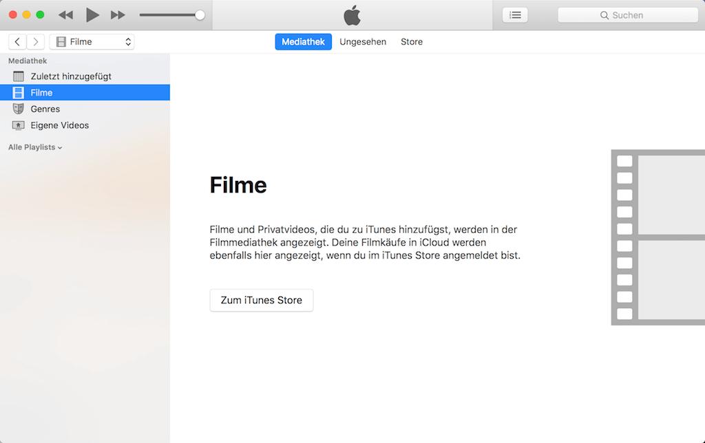 Filme in iTunes löschen