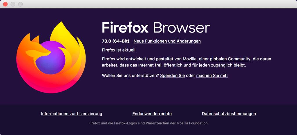 Firefox aktualisieren