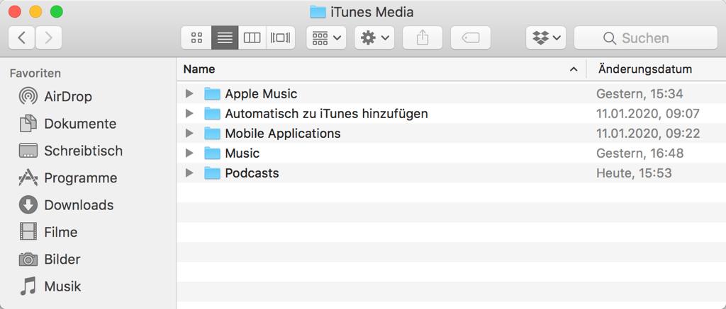iTunes Downloads löschen