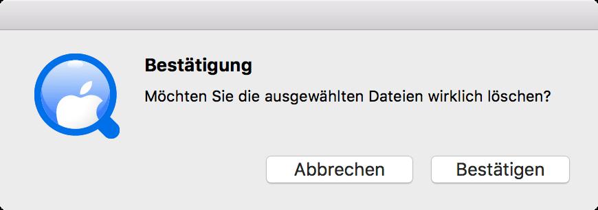 Mac doppelte Musikdateien löschen bestätigen
