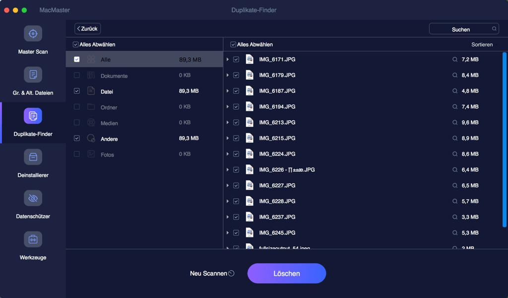 Duplikate finden Mac