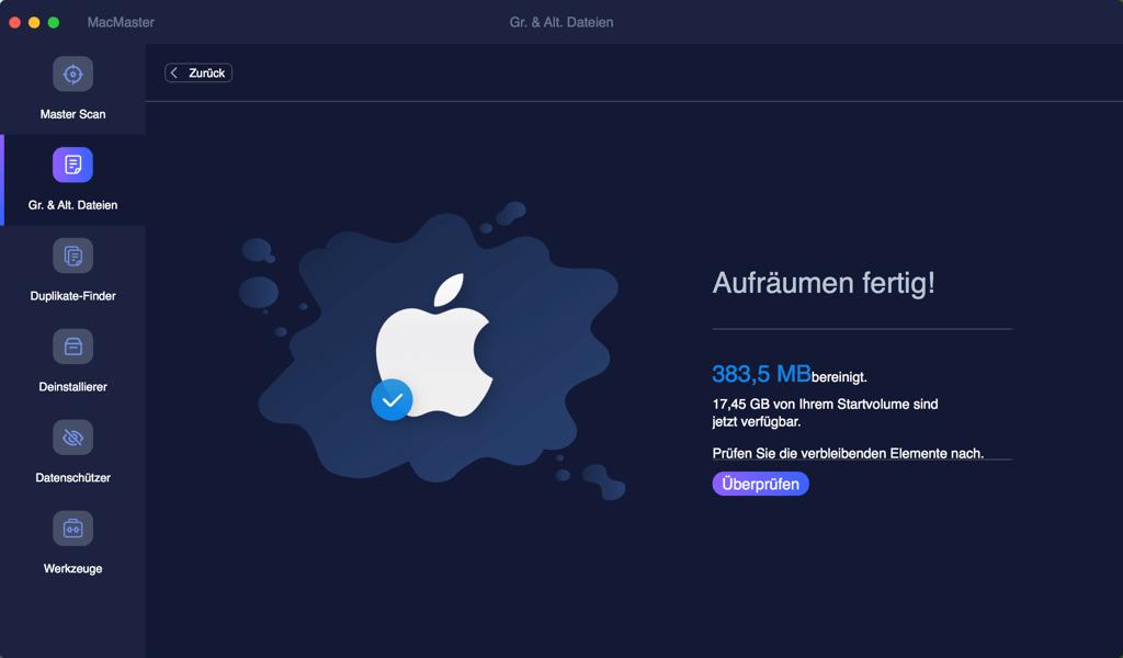 Mac Große Dateien löschen