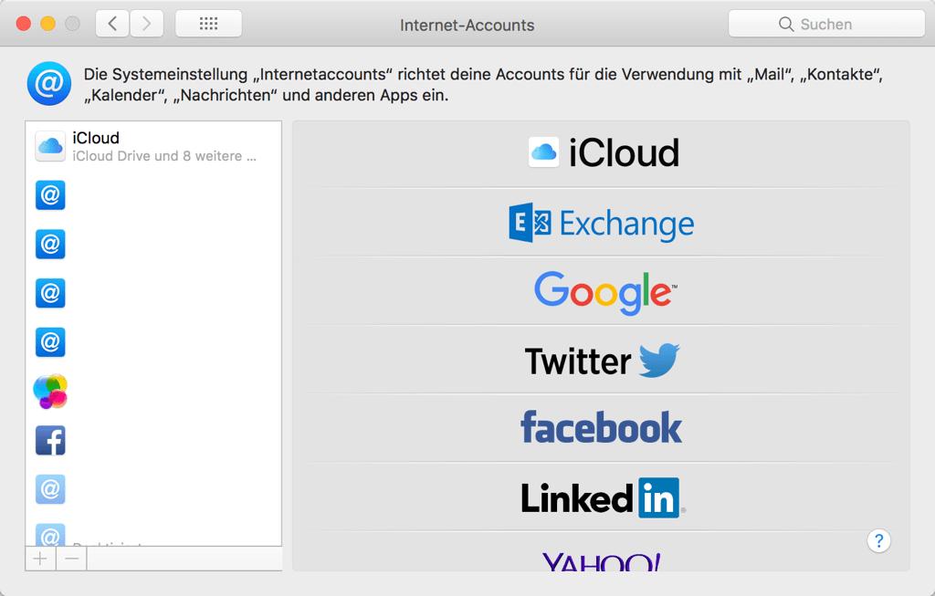 Mac Internet Accounts
