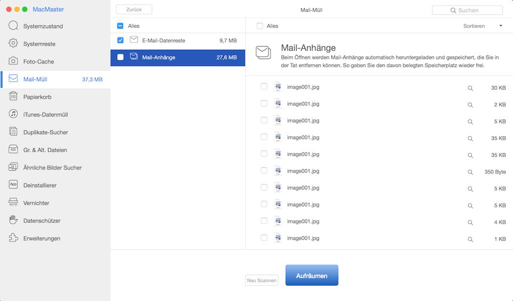 E-Mail Downloads löschen Mac