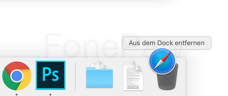 Mac Programm aus Dock entfernen