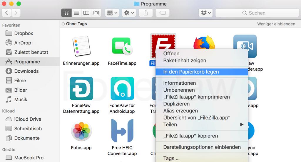 Schritt 2 - Applikation öffnen und konfigurieren