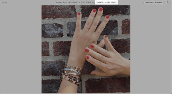 Mac Bilder Vorschau mit QLImageSize-Plugin