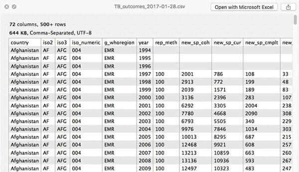 QuickLookCSV-Plugin Interface