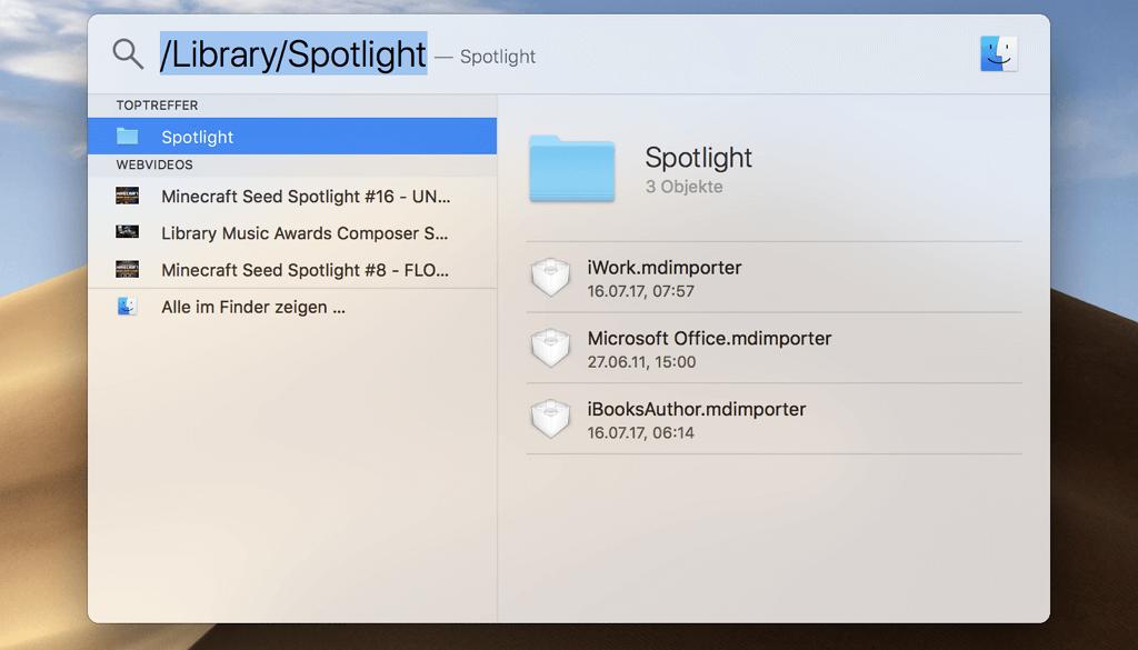 Spotlight Suche Mac
