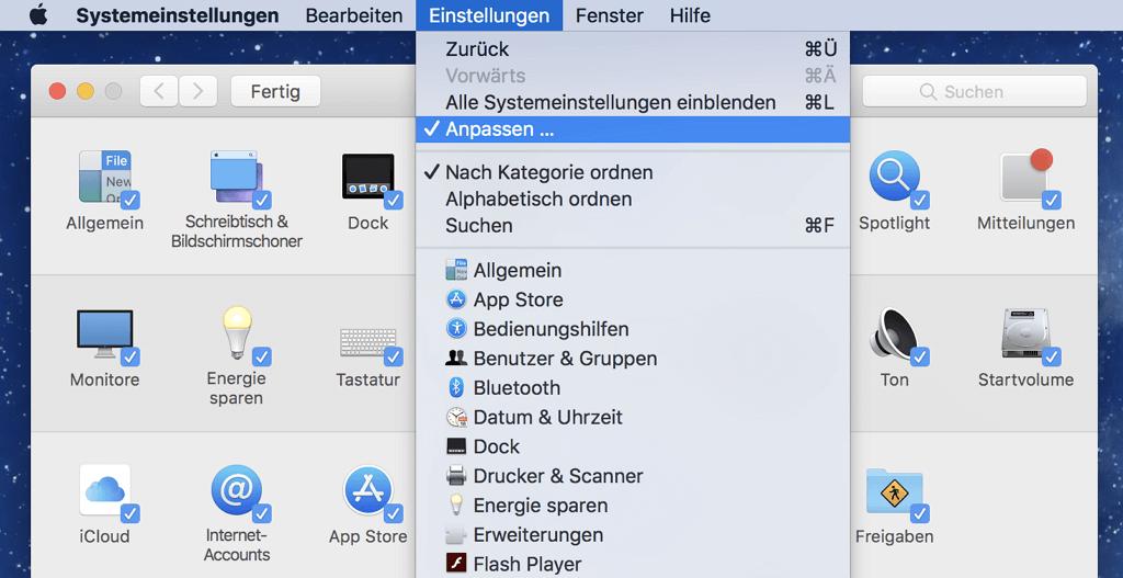 Mac-Systemeinstellungen anpassen