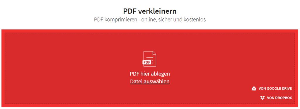 PDF-Datei verkleinern Smallpdf