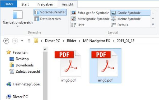 PDF-Dateien auf PC