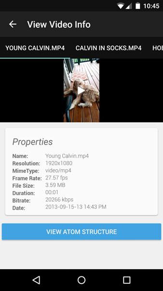 Metadaten checken Android