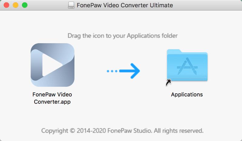 Arrastra FonePaw a la Aplicaciones