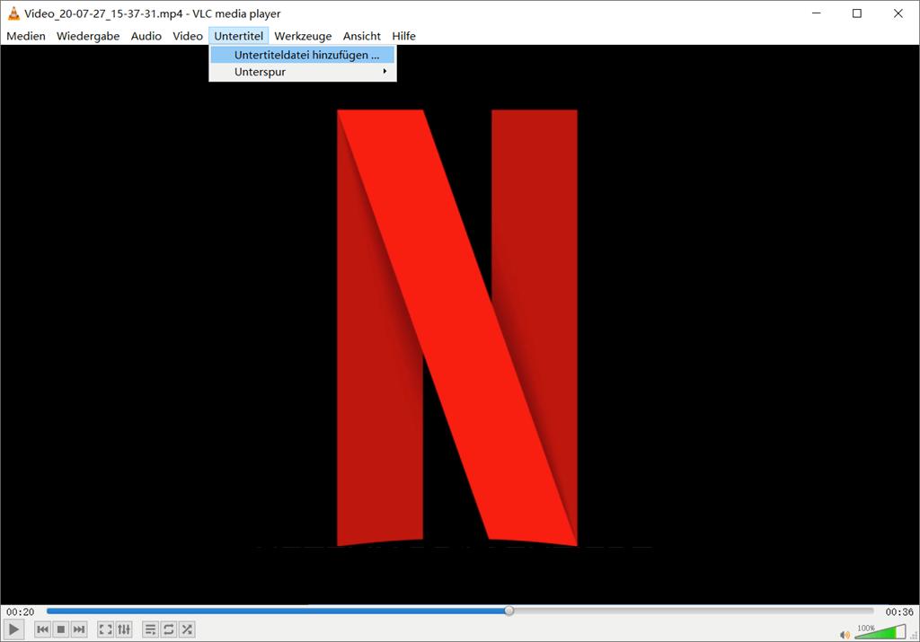 Untertitel hinzufügen VLC Player