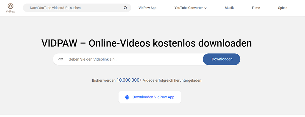 VidPaw YouTube Video Downloader Online