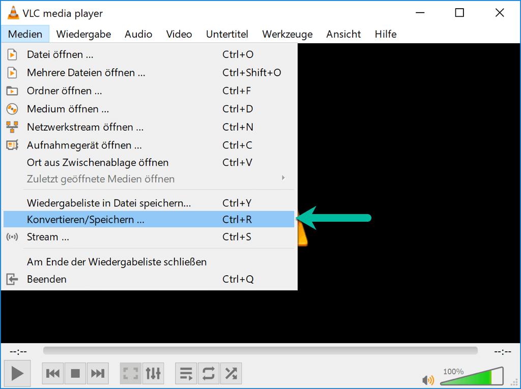 Konvertieren/Speichern VLC