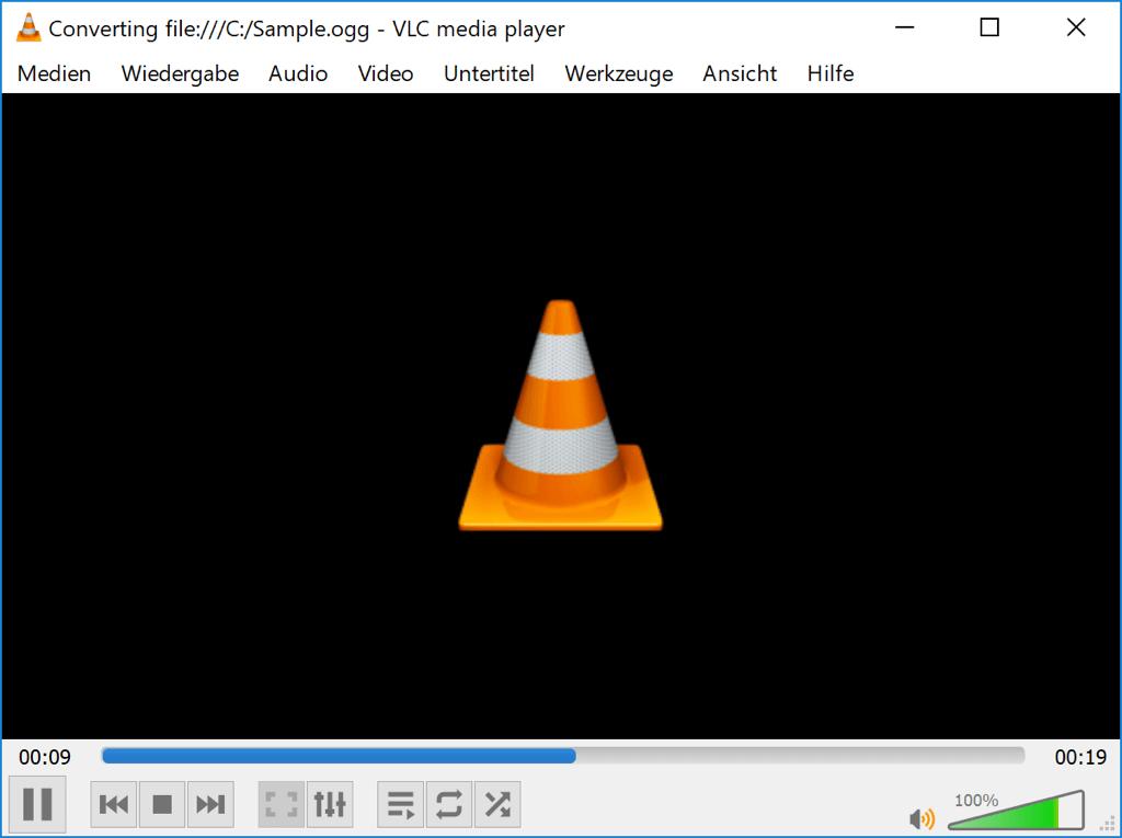Konvertierungsprozess VLC