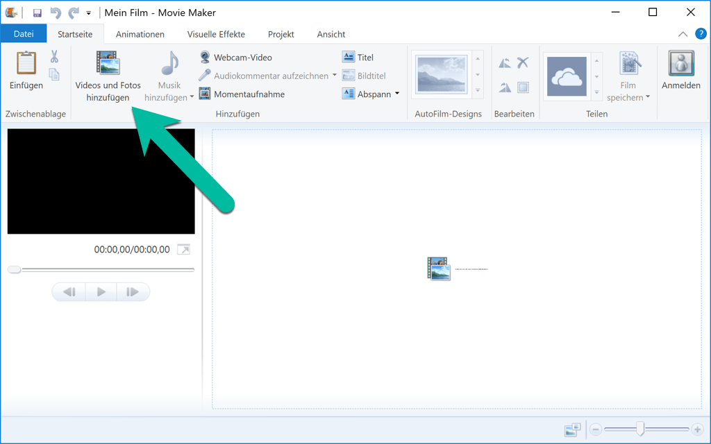 Video zu Windows Movie Maker hinzufügen