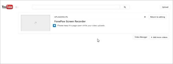 YouTube Video hochladen hängt